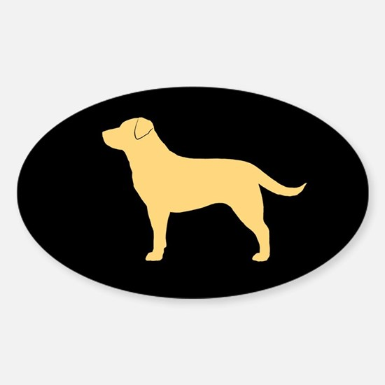 Yellow Lab Sticker (Oval)