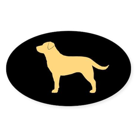 Yellow Lab Sticker (Oval 10 pk)