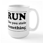 Funny sports quote Large Mug