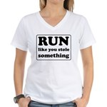 Funny sports quote Women's V-Neck T-Shirt