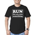 Funny sports quote Men's Fitted T-Shirt (dark)