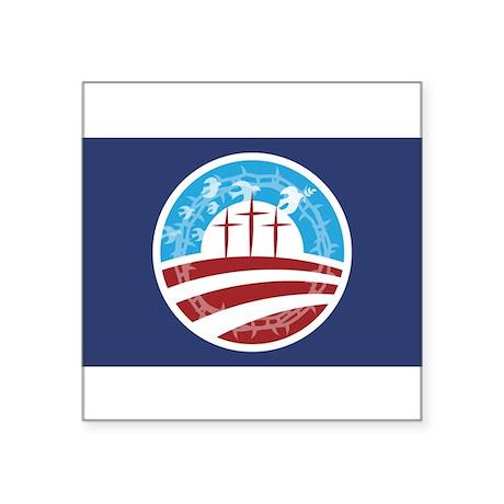 Christians for Obama Oval Sticker