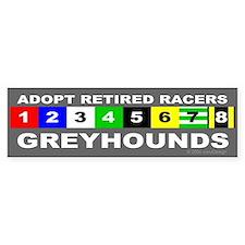 Adopt Greyhounds Bumper Car Sticker