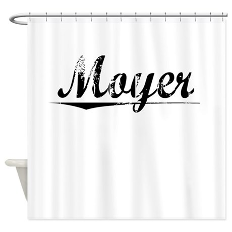 Moyer, Vintage Shower Curtain