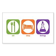 Eat Sleep Biology Rectangle Decal