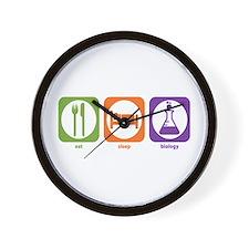 Eat Sleep Biology Wall Clock