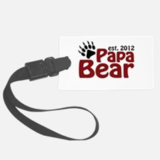 Papa Bear Claw Est 2012 Luggage Tag