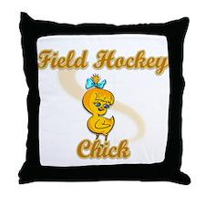 Field Hockey Chick #2 Throw Pillow