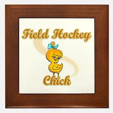Field Hockey Chick #2 Framed Tile