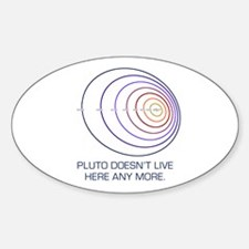 Pluto Lives Oval Decal
