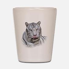 White Tiger Licking Lips Shot Glass