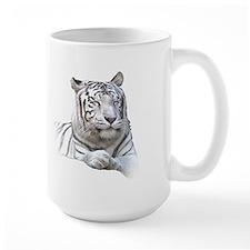 White Tiger Licking Lips and Dozing Mug