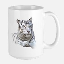 White Tiger Licking Lips and Dozing Mug