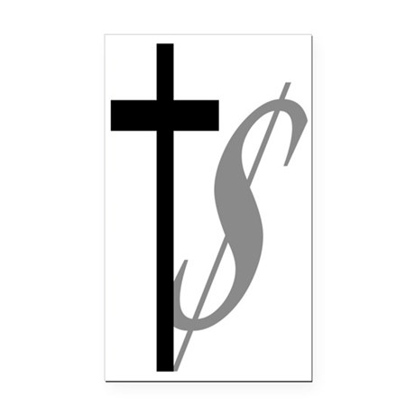 Atheist, Church and Money Rectangle Car Magnet