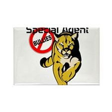 cougar special agent anti bullying Rectangle Magne
