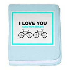 Bike Love baby blanket