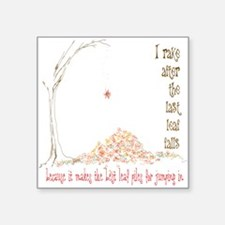 "Leaf Pile Square Sticker 3"" x 3"""