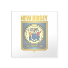 "New Jersey Seal (B) Square Sticker 3"" x 3"""