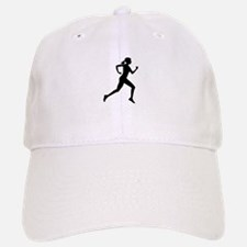 runner girl Baseball Baseball Cap