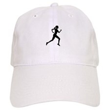 runner girl Baseball Cap