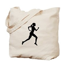 runner girl Tote Bag