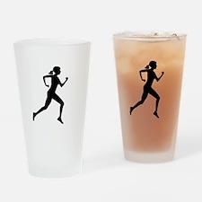 runner girl Drinking Glass