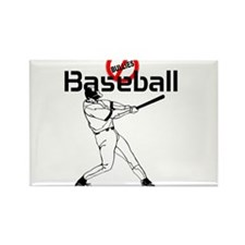 Baseball anti bullies Rectangle Magnet