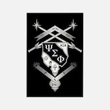 Psi Sigma Phi Crest Rectangle Magnet
