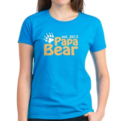 Papa Bear New Dad 2013 Women's Dark T-Shirt