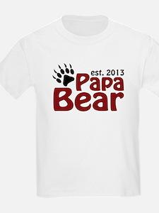 Papa Bear New Dad 2013 T-Shirt