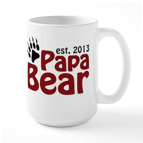 Papa Bear New Dad 2013 Large Mug