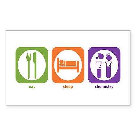 Eat Sleep Chemistry Rectangle Sticker