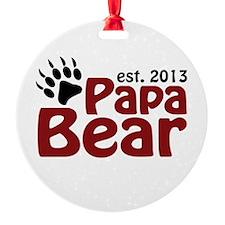 Papa Bear New Dad 2013 Ornament
