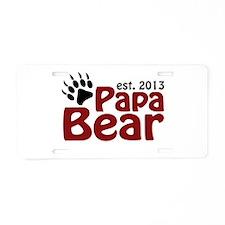 Papa Bear New Dad 2013 Aluminum License Plate