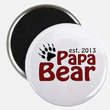 "Papa Bear New Dad 2013 2.25"" Magnet (100 pack)"