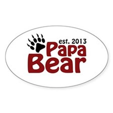 Papa Bear New Dad 2013 Decal