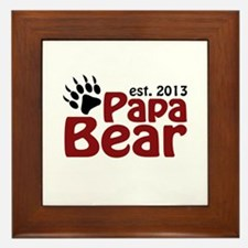 Papa Bear New Dad 2013 Framed Tile