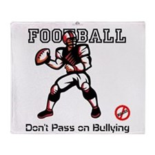 football anti bullying Throw Blanket