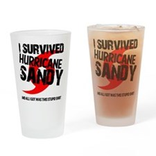i survived hurricane sandy Drinking Glass