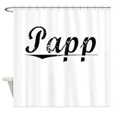 Papp, Vintage Shower Curtain