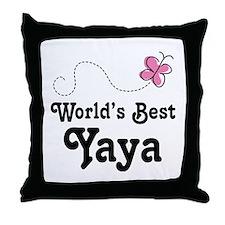 Yaya (Worlds Best) Throw Pillow