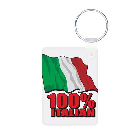 100% Italian Aluminum Photo Keychain