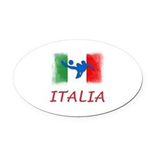 Italian World Cup Soccer Oval Car Magnet