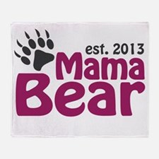Mama Bear Claw Est 2013 Throw Blanket