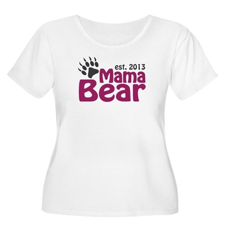 Mama Bear Claw Est 2013 Women's Plus Size Scoop Ne