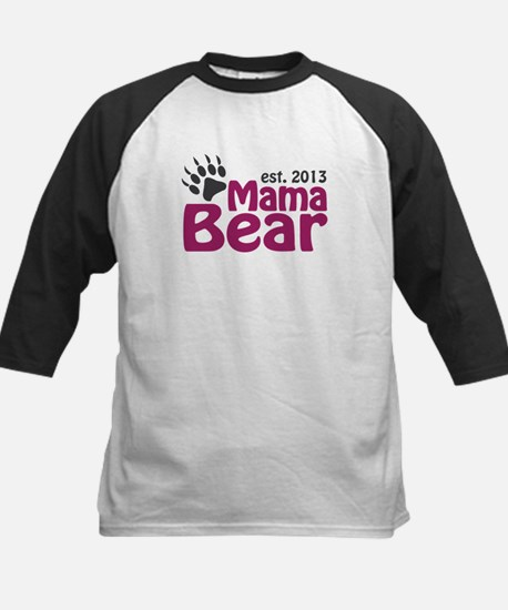 Mama Bear Claw Est 2013 Kids Baseball Jersey