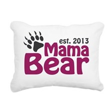 Mama Bear Claw Est 2013 Rectangular Canvas Pillow