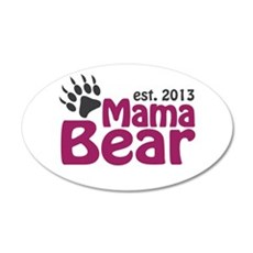 Mama Bear Claw Est 2013 Wall Decal