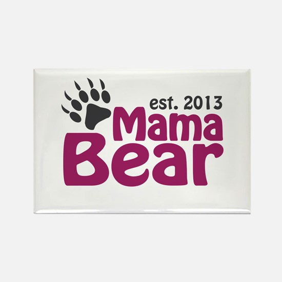 Mama Bear Claw Est 2013 Rectangle Magnet
