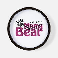 Mama Bear Claw Est 2013 Wall Clock
